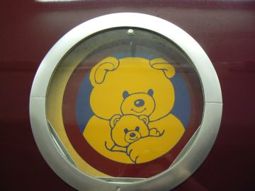 photo of second porthole graphic