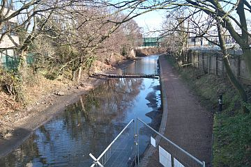 Looking east from Forge Lane Bridge