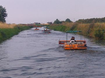 photo of weedcutting fleet
